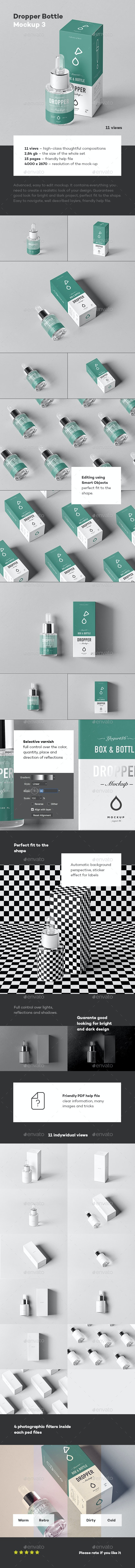 Dropper Bottle Mock-up 3 - Beauty Packaging