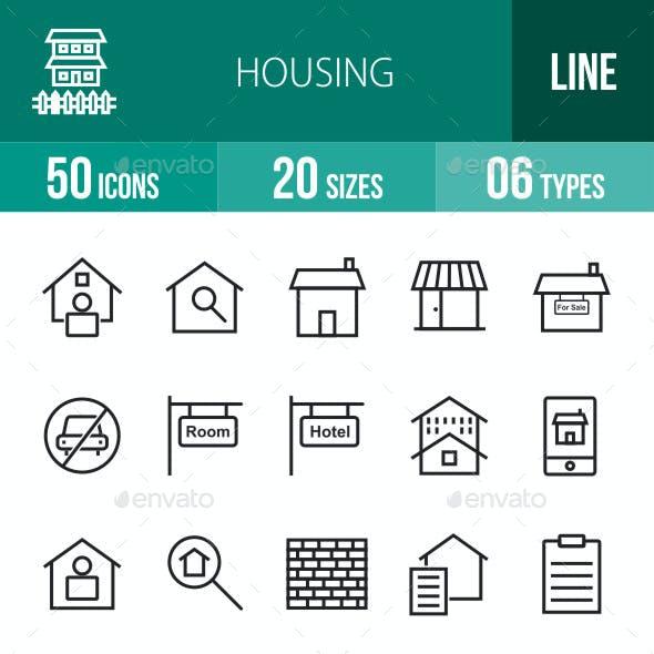 Housing Line Icons