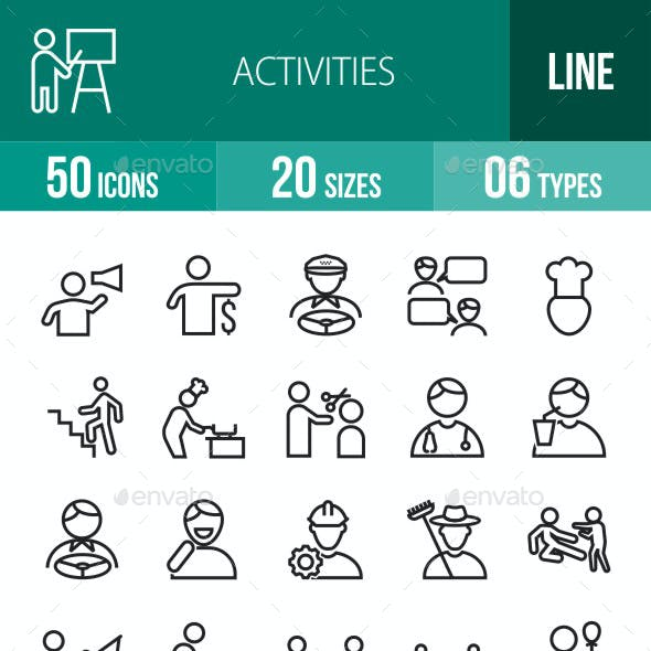 Activities Line Icons