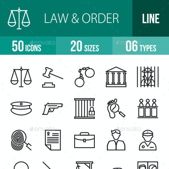 Law & Order Line Icons