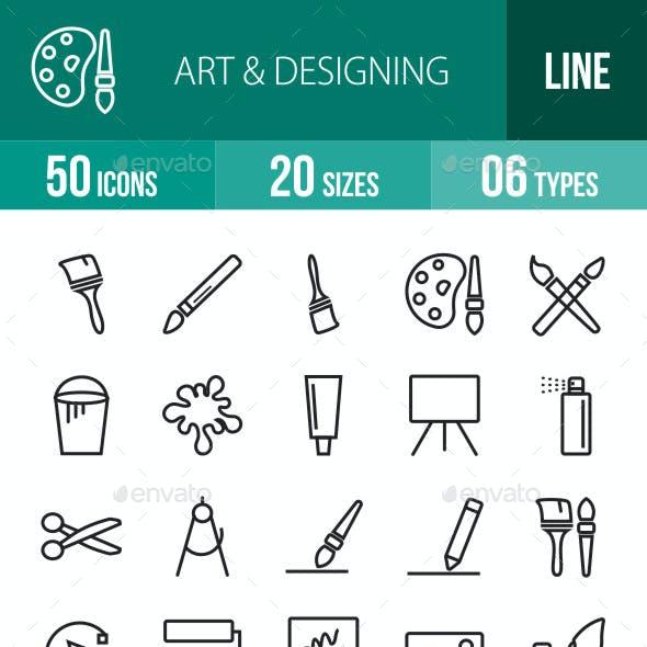 Art & Designing Line Icons