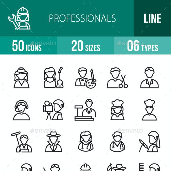 Professionals Line Icons