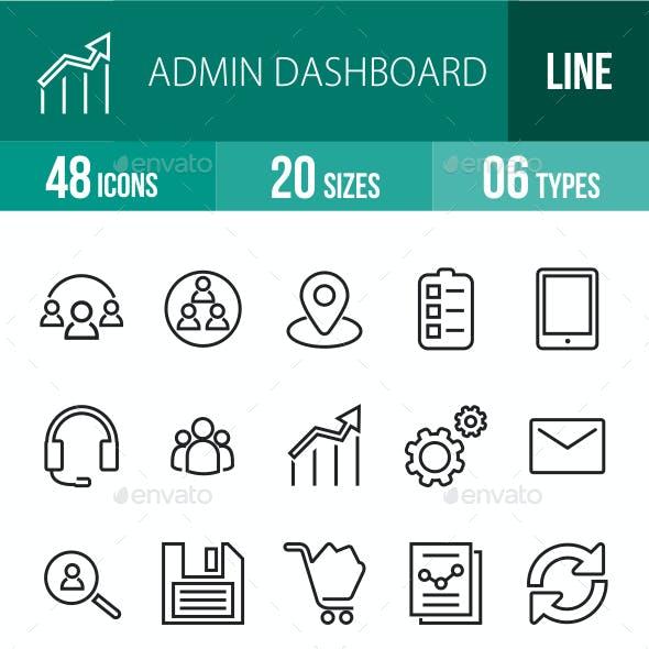 Admin Dashboard Line Icons