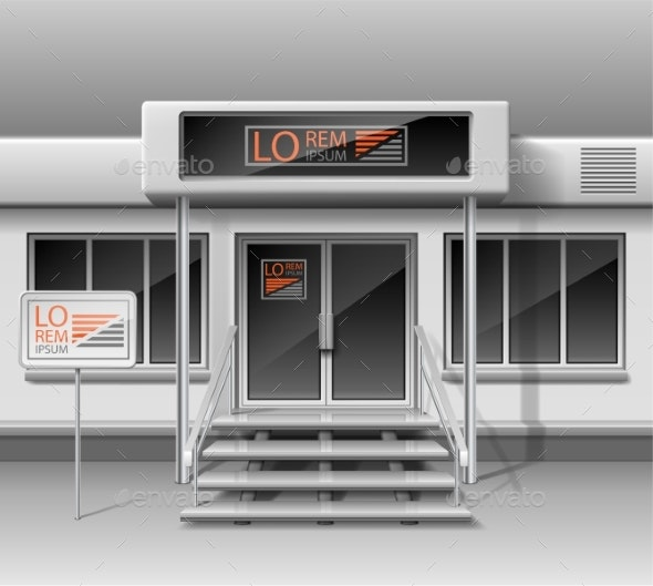 Template for Advertising Store Front Facade - Buildings Objects