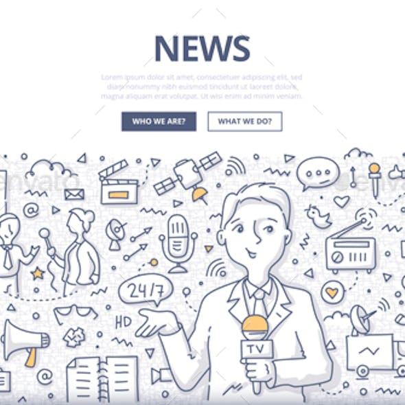 News Doodle Concept