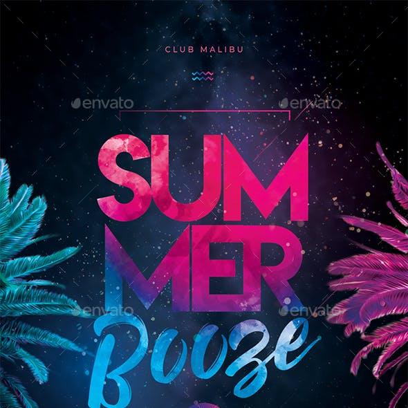 Summer Booze Party Flyer