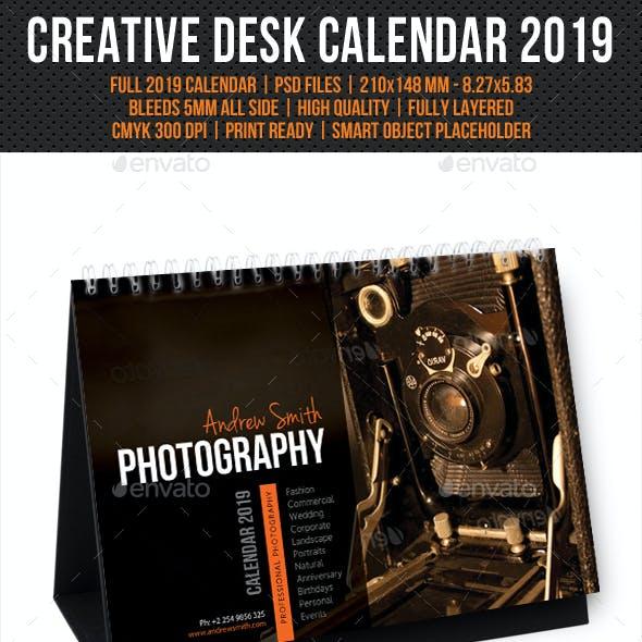Creative Desk Calendar 2019 V10