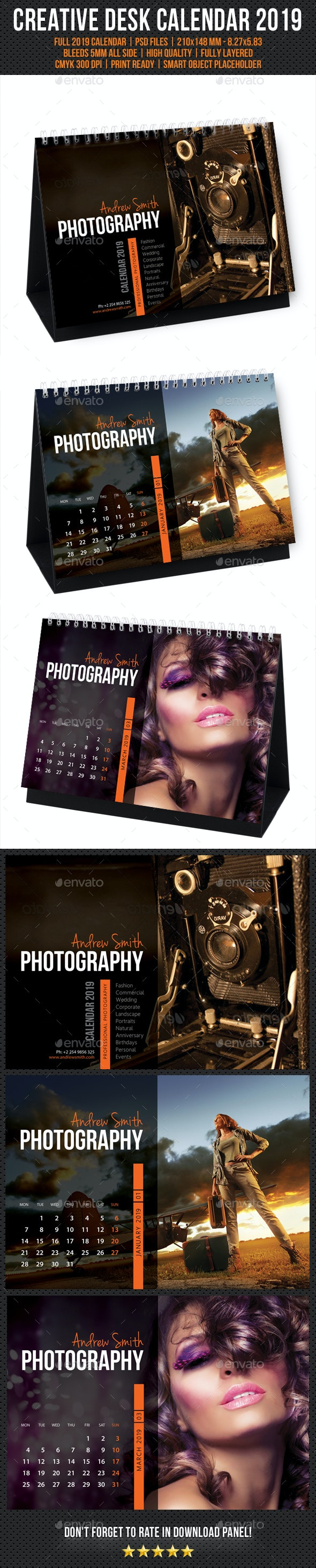 Creative Desk Calendar 2019 V10 - Calendars Stationery