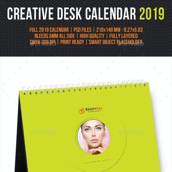 Creative Desk Calendar 2019 V09