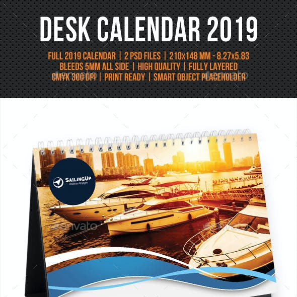 Creative Desk Calendar 2019 V08