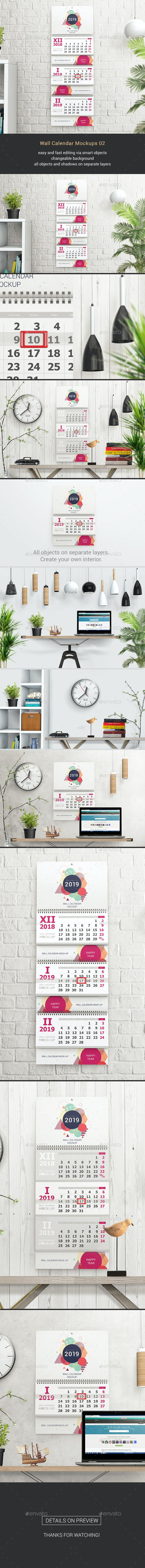 Wall Calendar Mockups 02 - Miscellaneous Print