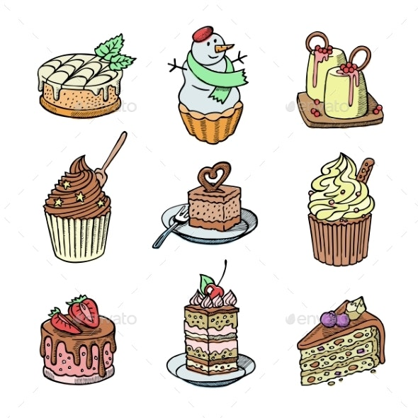 Cakes and Cupcakes - Food Objects