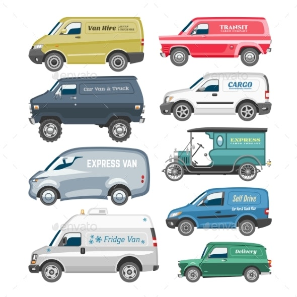 Van Vector Delivery Cargo - Man-made Objects Objects