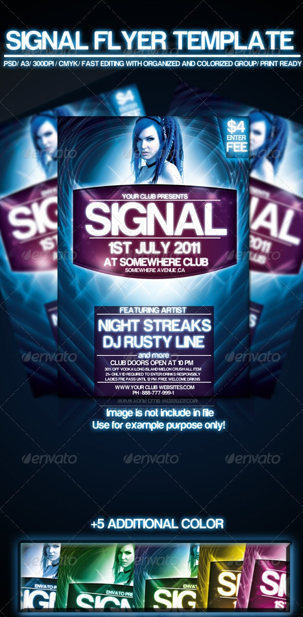 signal flyer template - Clubs & Parties Events
