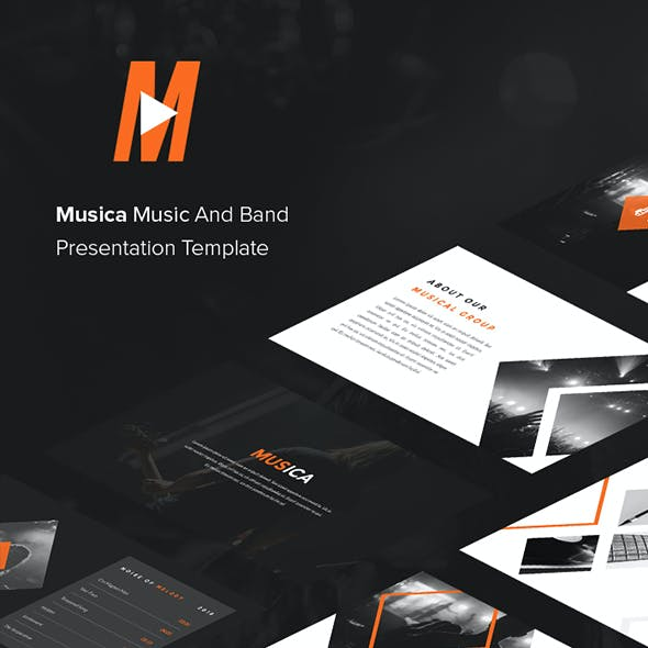 Musica - Music And Band Google Slides Template