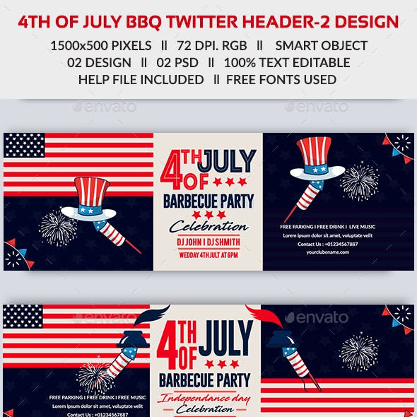 4th of July BBQ Twitter Header