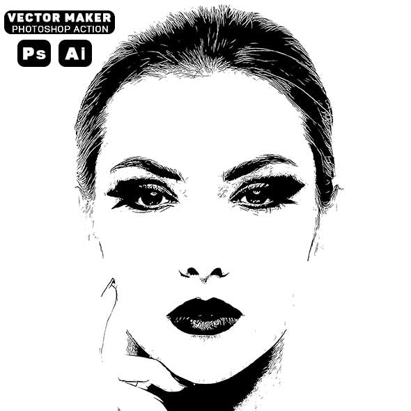 Vector Maker Photoshop Action