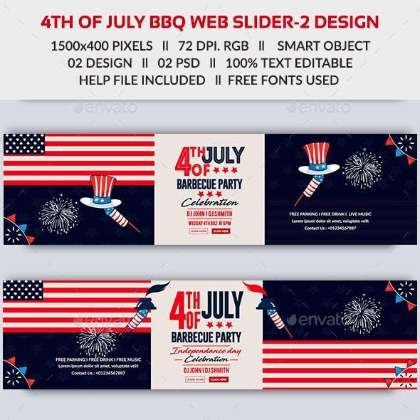 4th of July BBQ Web Slider
