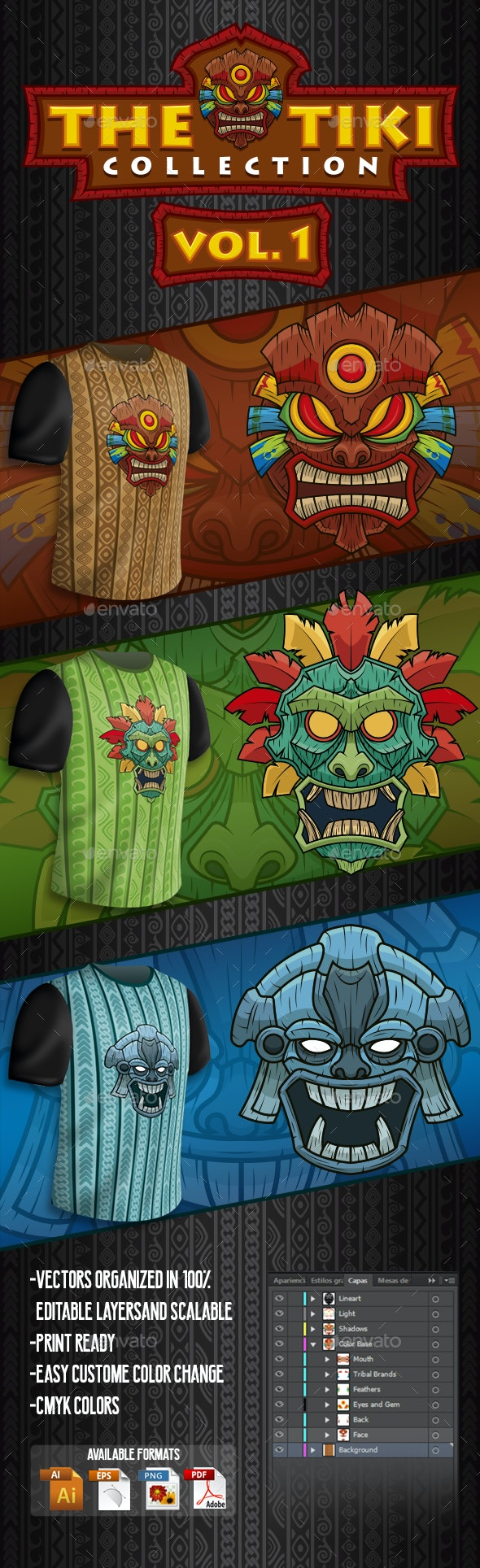 The Tiki Collection Vol 1 - Miscellaneous Characters