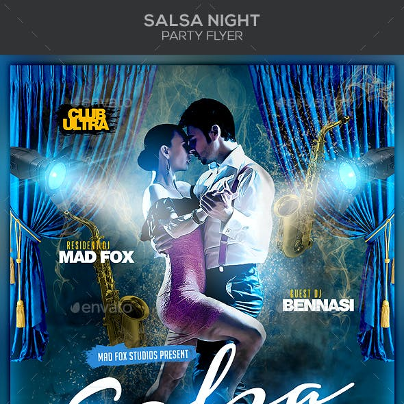 Salsa Night Party Flyer
