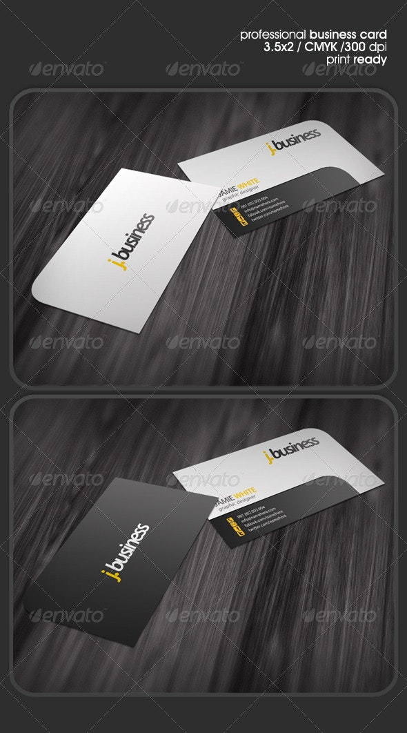 Rounded One-Corner Business Card - Corporate Business Cards