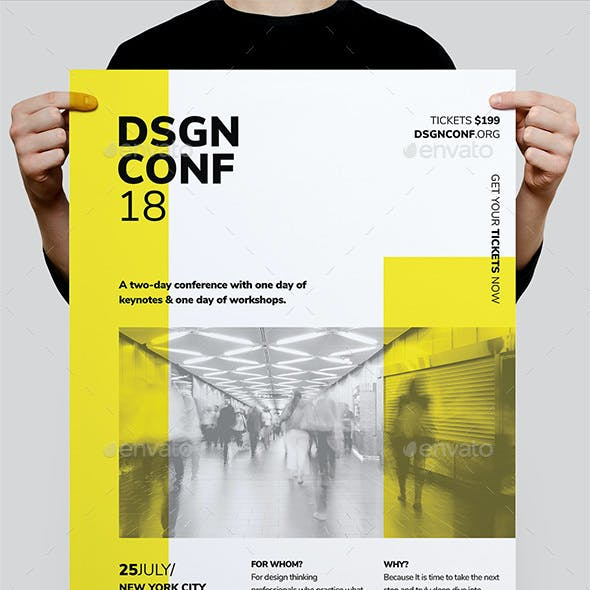 DSGN Series 6 Poster / Flyer Template