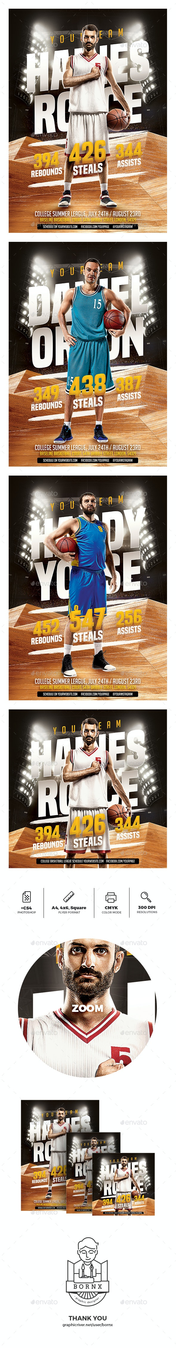 Basketball Player Flyer - Sports Events