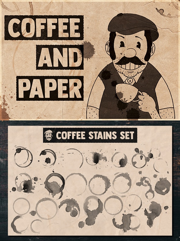 Coffee and Paper Handcrafted Pack Vol. 03 - Grunge Brushes