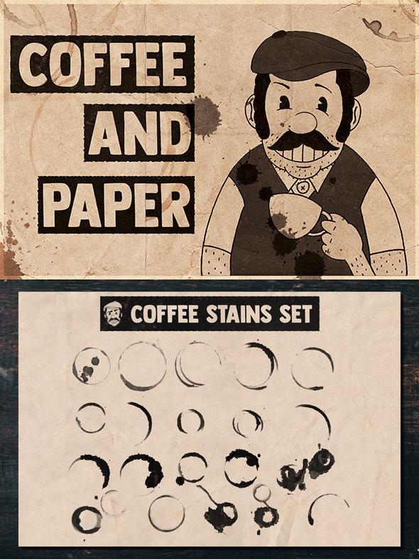 Coffee and Paper Handcrafted Pack Vol. 04 - Grunge Brushes