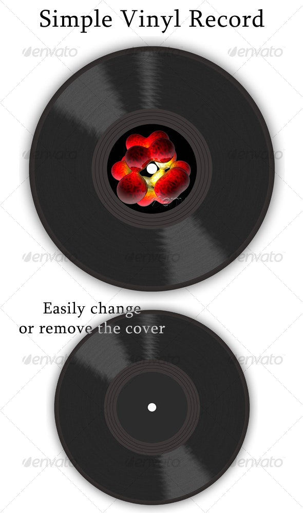 Simple Vinyl Record - Objects Illustrations