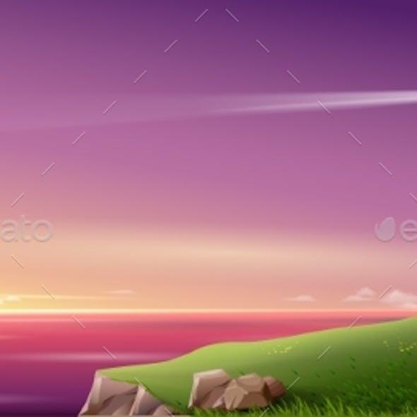 Night Fantasy Sea Landscape