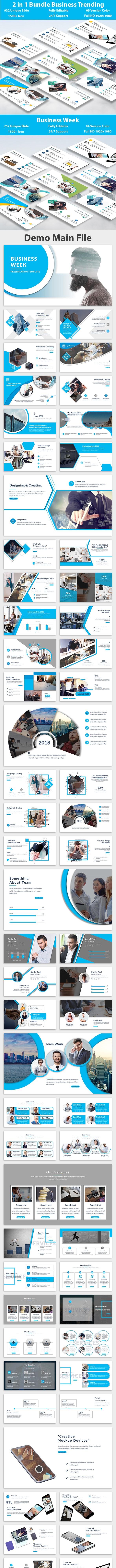Bundle Business Trending 2 in 1 Keynote Template - Creative Keynote Templates