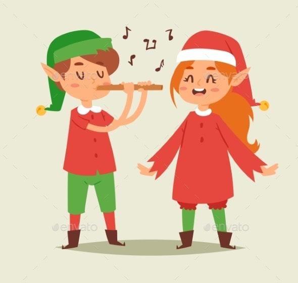 Christmas Elf Kids Vector - Christmas Seasons/Holidays