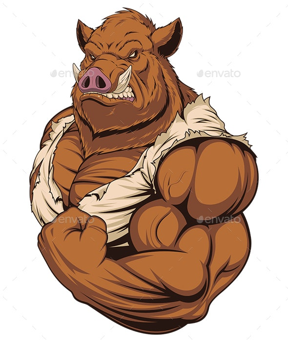 Strong Ferocious Boar - Animals Characters