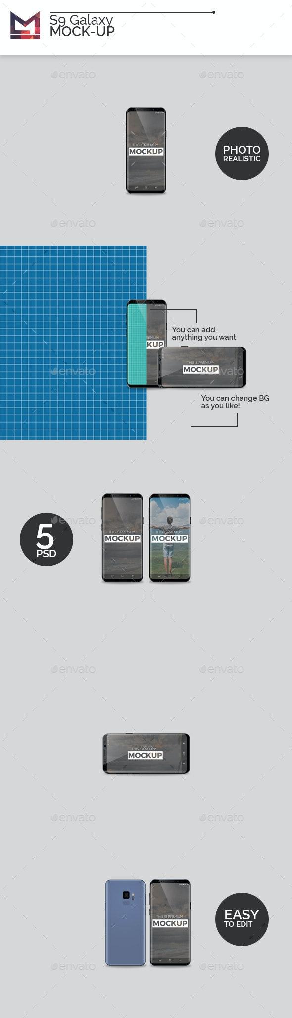 S9 Galaxy Mock-Ups - Mobile Displays
