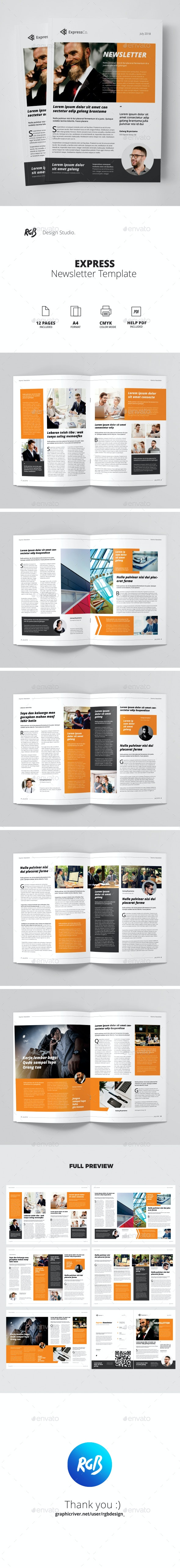 Express Newsletter - Newsletters Print Templates