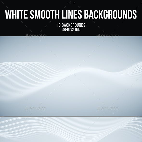 White Smooth Lines Backgrounds