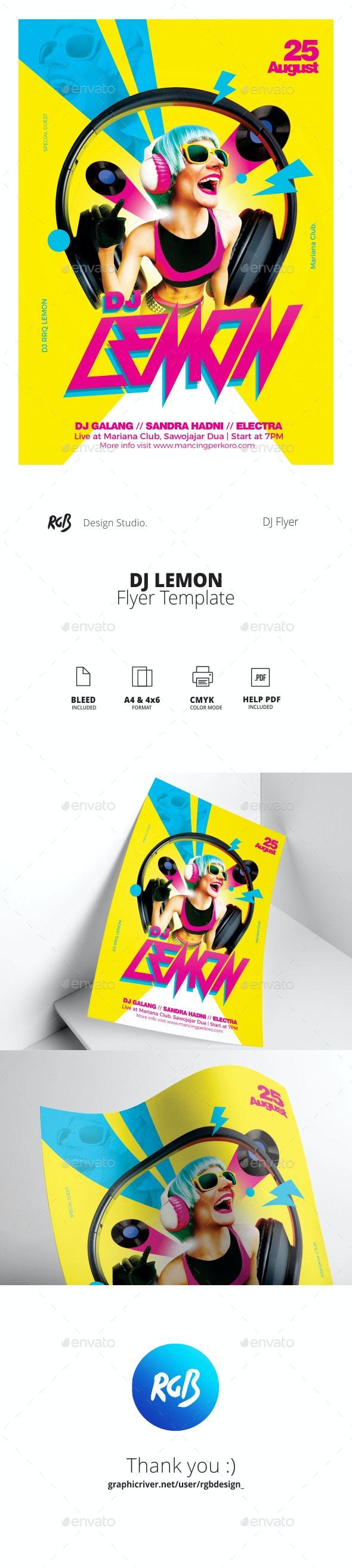 DJ Lemon Flyer / Poster - Clubs & Parties Events