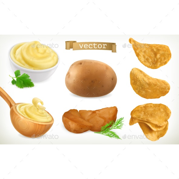 Potato, Mash and Chips - Food Objects