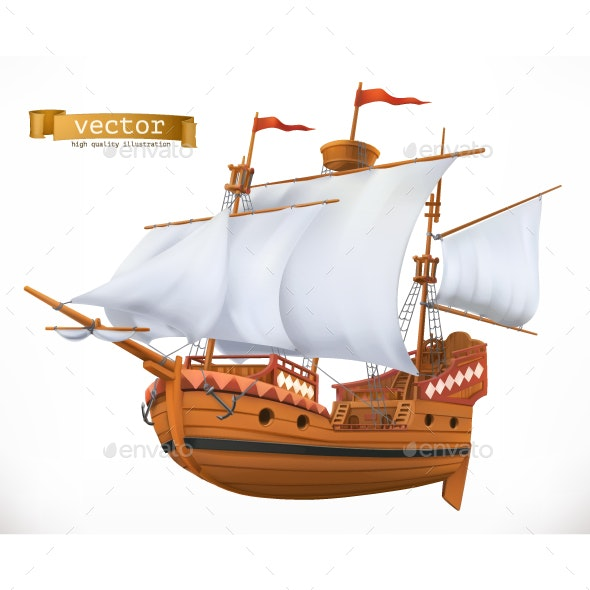 Sailing Ship - Man-made Objects Objects