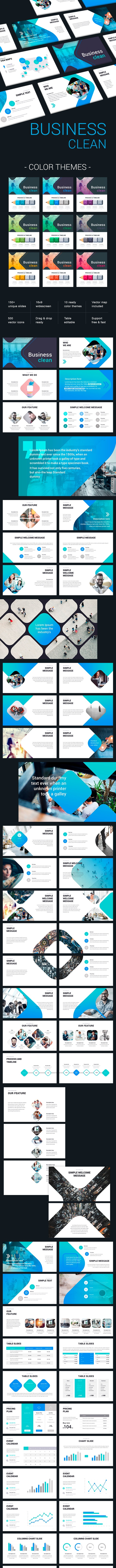 Business Clean - Business PowerPoint Templates