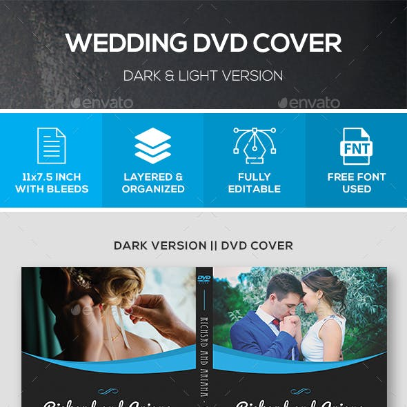 Wedding DVD Cover (Dark & Light Version)