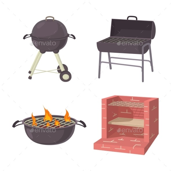 BBQ Place Tool Icon Set - Miscellaneous Vectors