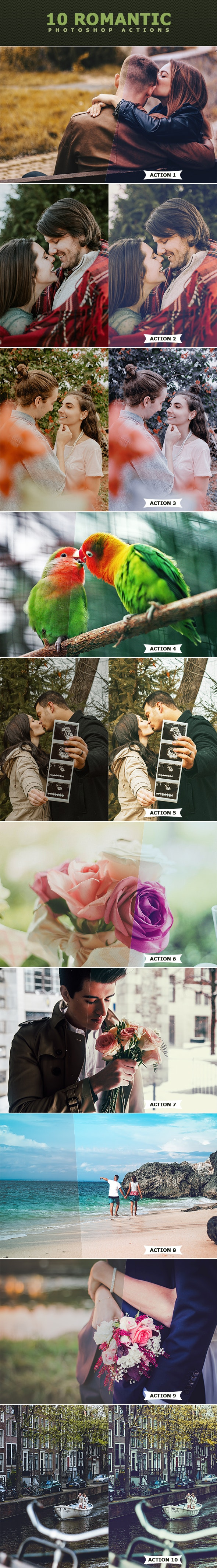 Romantic Photoshop Actions - Photo Effects Actions