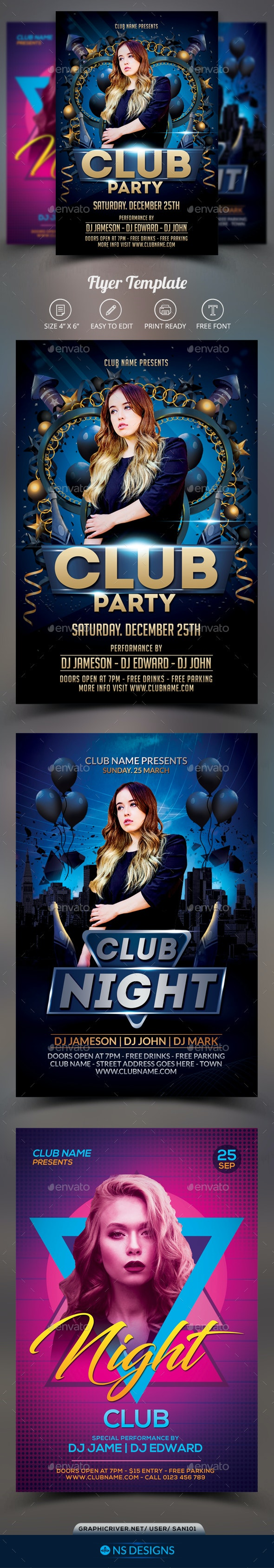 Club Flyer Bundle - Clubs & Parties Events