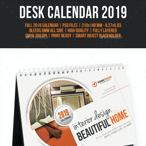 Creative Desk Calendar 2019 V06