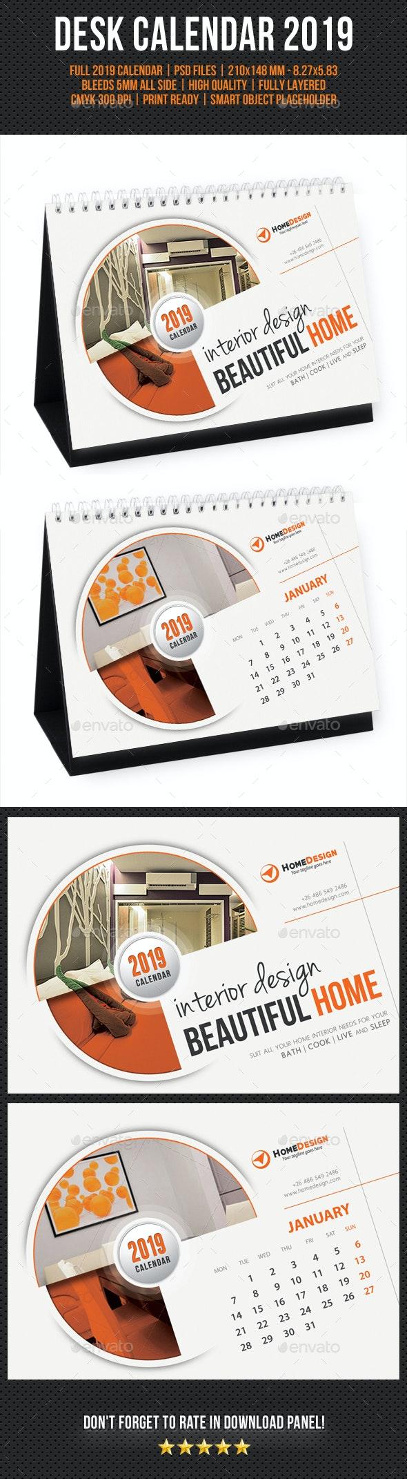 Creative Desk Calendar 2019 V06 - Calendars Stationery