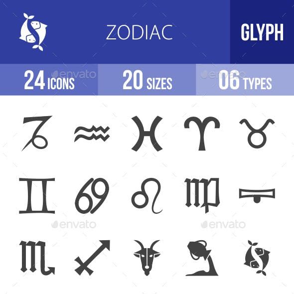 Cleaning Services Glyph Icons