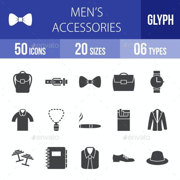 Men's Accessories Glyph Icons