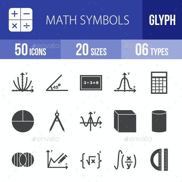 Math Symbols Glyph Icons
